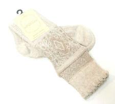 Bonetti Giordano Italy Cotton Blend Ladies Knee Socks Oatmeal Brown - NEW