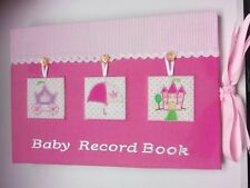 Pink Baby Record Book. Great New Baby Gift.
