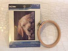 "Bucilla Counted Cross Stitch Kit - Dog - I DIDN'T DO IT -  5x7"" - NIP w/ Frame"