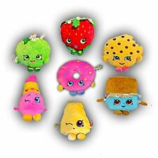"""Brand New Set of 7: Shopkins 7"""" Deluxe Plush Figures Stuffed Authentic Licensed"""