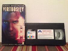 Virtuosity (VHS, 1996) tape & sleeve