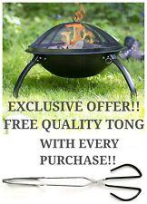 La Hacienda Fire Pit Camping Garden Fishing BBQ Heater Burner Portable Folding