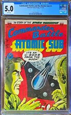 Commander Battle and the ATOMIC SUB #3, 5.0 Very Good/Fine, White Pages 5th Best