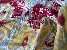 Très belle nappe tulipes  MAS D'OUSVAN imprimé main 180 X 270