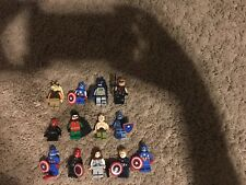 13 LEGO MEN, STAR WARS/MARVEL HEROES/DC, WITH WEAPONS, GREAT SHAPE
