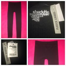 New Charlotte Russe Women's BLACK Fleece Lined Legging PANTS Small/Medium COMFY!