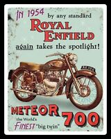 ROYAL ENFIELD METEOR 700 MOTORCYCLE MOTORBIKE BIKER METAL PLAQUE TIN SIGN 1103