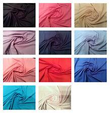 "100% Cotton Jersey Dress T-Shirt Fabric - 160cm (63"") Wide- 11 Colours"