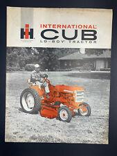 Vintage Original 1950's International Cub Low-Boy Tractor sales Brochure