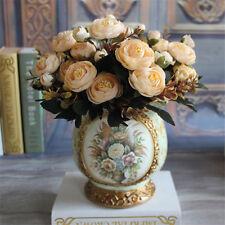 28 cm Artificial Flowers Camellia Floral Bouquet Wedding Artificial Rose
