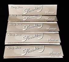 5 Packs Smoking Master King Size Extra Slim Rolling Papers 33 Per Pack