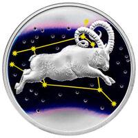 2015 Tokelau 1 oz $5 Colorized Proof Silver Aries In Original Cap SKU34447