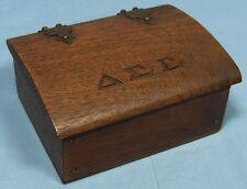 Delta Sigma Epsilon Sorority Wood Wooden Trinket Jewelry Hinged Box Small Size
