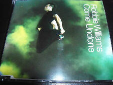 Robbie Williams Come Undone Rare Australian Enhanced CD + Sticker