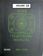 Riders Television Manual * Volume 23 * CDROM * PDF * TV Schematics