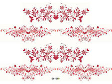 VinTaGe IMaGe XL ReD ScRoLLY BoRDeRs ShaBby WaTerSLiDe DeCALs ~FuRNiTuRe SiZe~