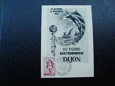 FRANCE - carte 31/10/1953 24eme foire gastronomique dijon (cy12) french (A)