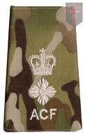 Pair Multicam MTP ACF Lieutenant Colonel RANK SLIDES ( Cadets Army Cadet Force