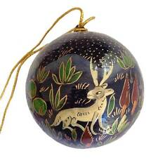 Christmas Tree Ball - Blue Papier-Mache - Handmade in India - Fair Trade