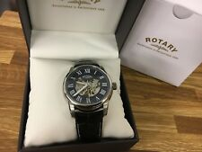 Gents Rotary Automatic Skeleton Watch on Leather Strap GS00400/05  RRP.£255
