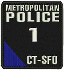 METROPOLITAN Police 1 CTSFO embroidery patches 4x4.5 hook blue corner