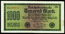 """DEUTSCHLAND. GERMANY. 1000 Mark 15.9.1922. Ro. F75. """"Rcichsbanknote""""."""