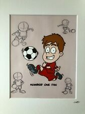 More details for football - red strip - boy - hand drawn & hand painted cel