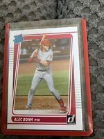 2021 Donruss #35 Rated Rookie Alec Bohm RC Philadelphia Phillies Baseball Card