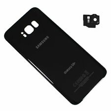 "Rear Back Door Cover Glass For Samsung Galaxy S8+ Plus 6.2"" G955U Black"