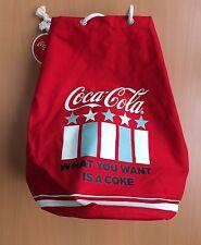 Coca Cola Rucksack Tasche Beutel Retro groß