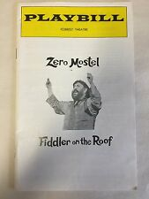 "ZERO MOSTEL ""FIDDLER ON THE ROOF"" 1976 PLAYBILL FORREST THEATRE PHILADELPHIA"