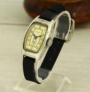 Zvezda (Star) 1950's RARE SOLID Silver 875 mechanical USSR Soviet wristwatch