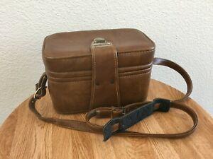 Vintage Brown Hard Case Camera Bag