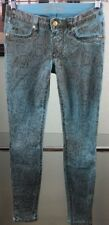 NEW Women Robin's Jean Skinny Authentic Snake Skin Pattern Blue Pants Size 28