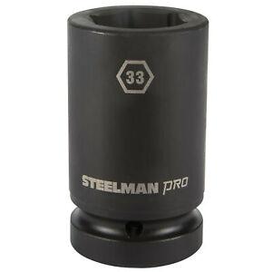 Steelman Pro 1 in. Drive 33mm 6 Point Deep Impact Socket 79292