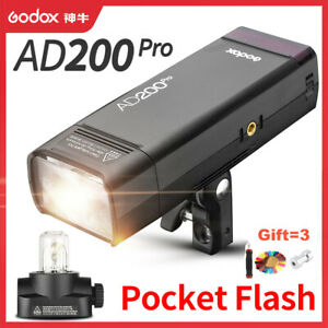 Godox AD200Pro Pocket Flash Light 200Ws TTL 2.4G Kit for Nikon Sony Canon DLSR