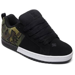 DC Shoes Homme Court Graffik SQ Low Top Sneaker Noir Camouflage Chaussures Skate