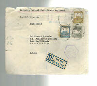 1940 Tel Aviv Palestine Censored cover to USA Ottoman Bank