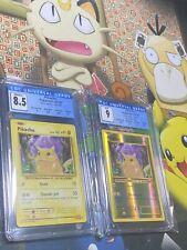 Pikachu XY Evolution Regular & Reverse Holo pair 35/108 ⚡️ CGC 8.5 and Mint 9 ⚡️