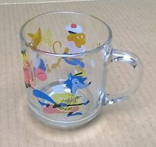 Arcoroc Glass Child Cup Mug Monkey Rabbit Duck Wolf Characters France Good Used