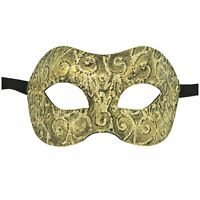 Genuine Venetian Mask Made in Italy Classic Masquerade Costume Gold Sun Prom
