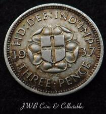 1937 George VI Silver Threepence Coin - Great Britain.