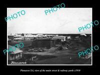 OLD LARGE HISTORIC PHOTO OF PINNAROO SA, THE MAIN St & RAILWAY YARD c1910