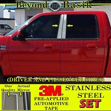 2001-2003 Ford F150 F-150 SuperCrew Crew Cab 4pc STAINLESS STEEL Pillar Posts