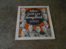 Alka Seltzer Song Book - Copyright 1937