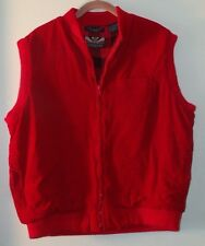 Bonkers Red Cotton  w/Polyester Fill Cold Weather Vest - Misses Size XL