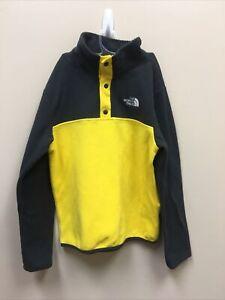 North Face Black and Yellow Sweatshirt YOUTH BOYS SIZE MEDIUM ZP-9327