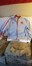 NEBRASKA CORNHUSKERS TRACK JACKET - XL - ADIDAS - THROWBACK