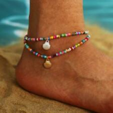 New Rainbow Opaque Bead Ankle Bracelet Womens Anklet Adjustable Chain Beach