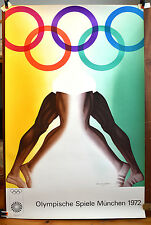 ALLEN JONES limited edition original Munich Olympics poster 1972